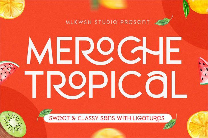 MEROCHE Font text