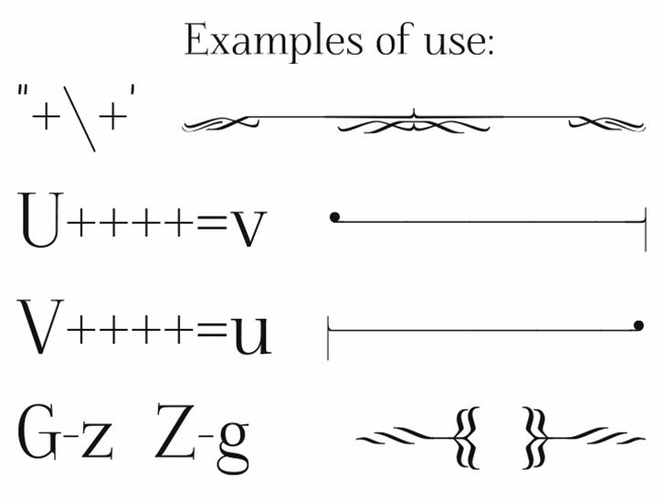 Foglihten Deco Font handwriting parallel