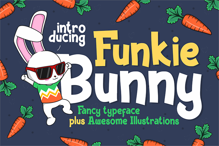 Funky Bunny font by figuree