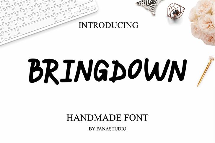 BRINGDOWN Font design graphic