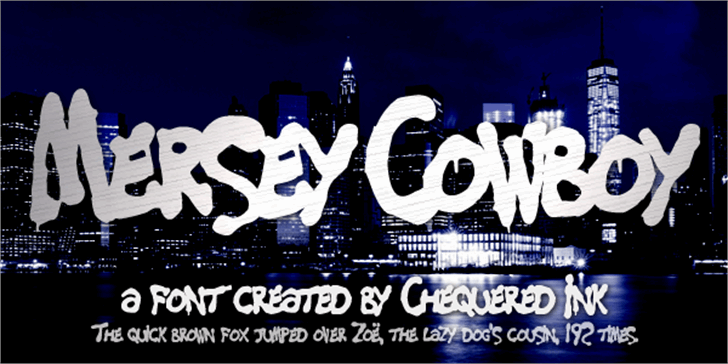 Mersey Cowboy font by Chequered Ink