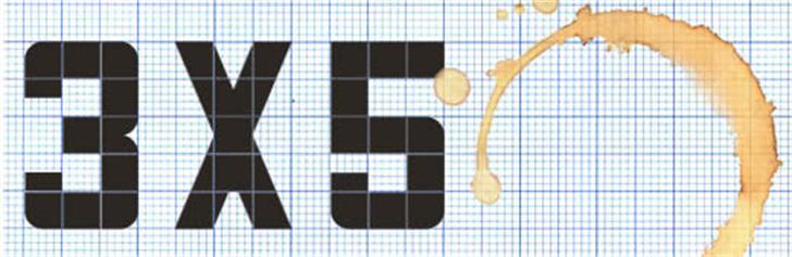 3x5 Font crossword puzzle shoji