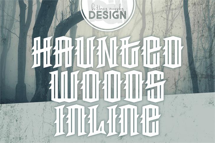 Haunted Woods Inline Demo Font poster