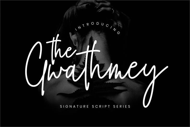 The Gwathmey font by Creatype Studio
