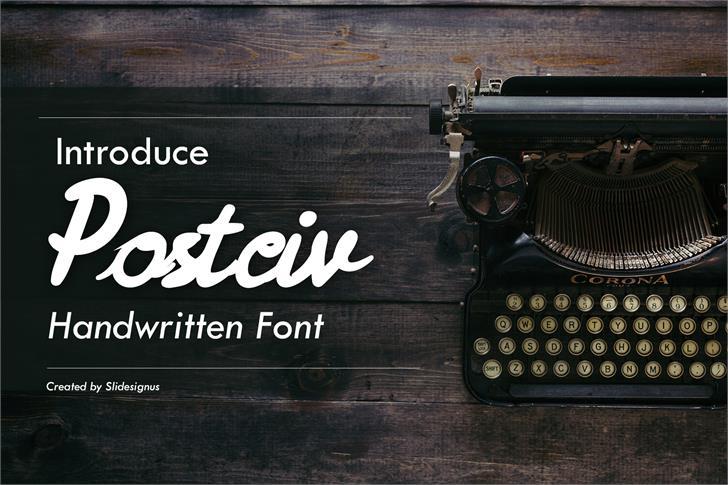 Postciv-Demo Font weapon