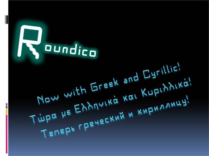 Roundico Font screenshot text