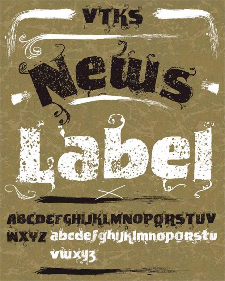 VTKS News Label Font text poster