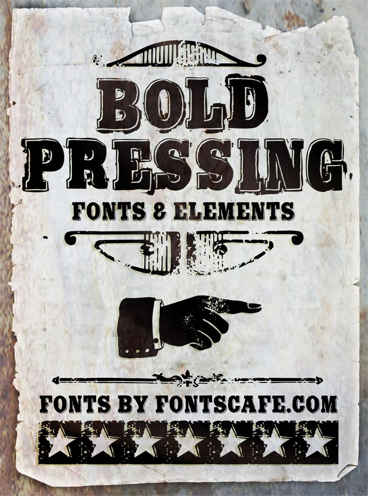 Bold Pressing H3 demo Font poster text