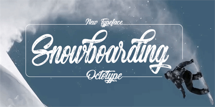 Snowboarding font by Octotype