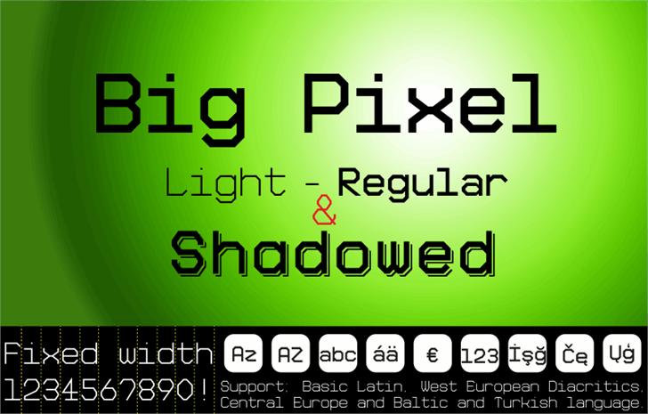 Big Pixel Demo Font screenshot font