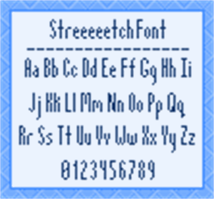 Streeeeetch font by Stuck in Suburbia