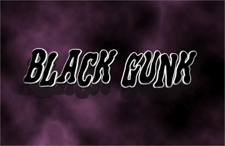 Black Gunk Font