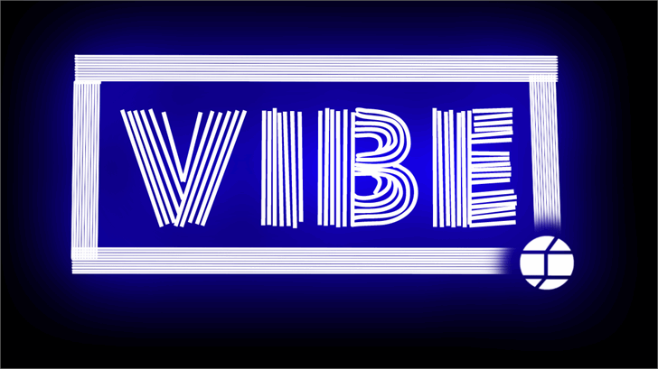 Vibe Font design screenshot