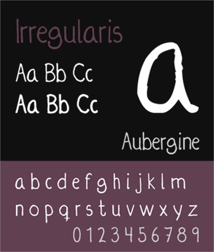 Irregularis Font text screenshot