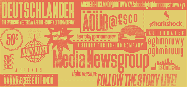 Deutschlander font by sharkshock