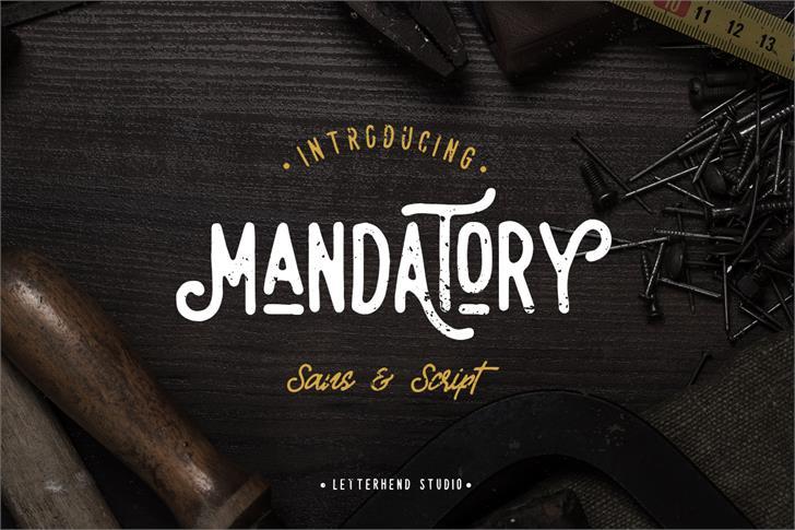 Mandatory Script Font design typography