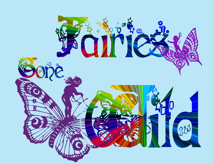 Fairies Gone Wild Font cartoon drawing