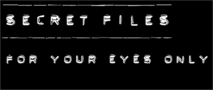 Secret Files Font screenshot font