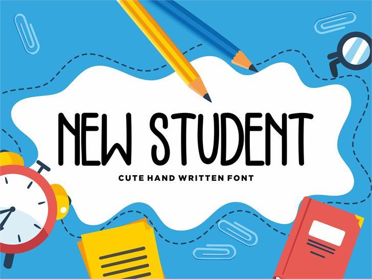 NEW STUDENT Font nintendo
