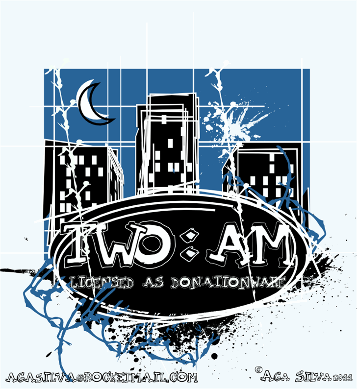 TWO AM font by AgaSilva