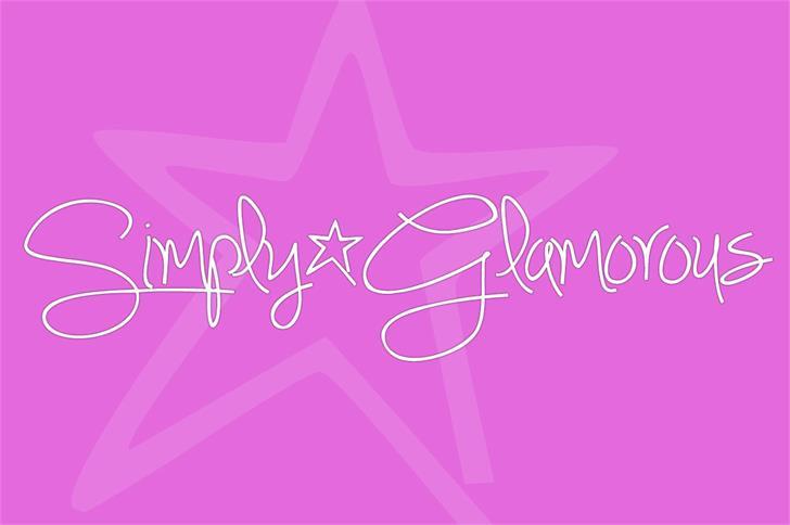 Simply*Glamorous Font screenshot vector graphics