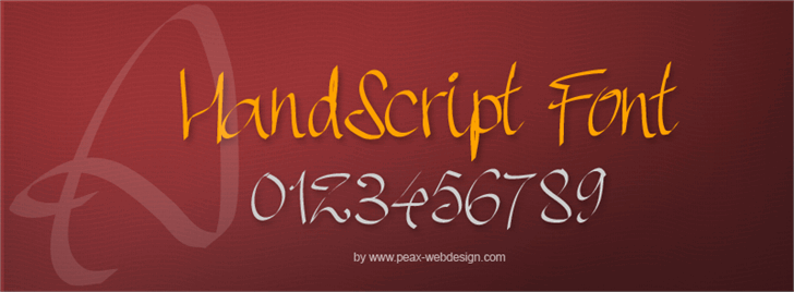 PWHandscript Font handwriting design