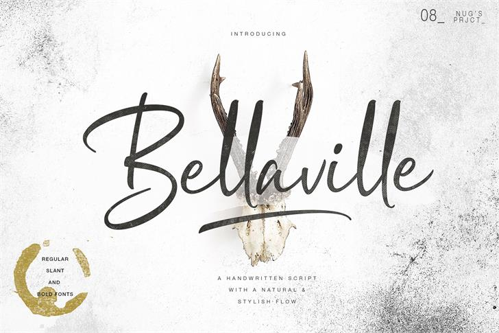 Bellaville Font handwriting text