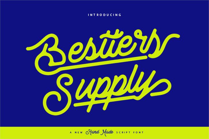 Bestters Supply Demo Font design screenshot