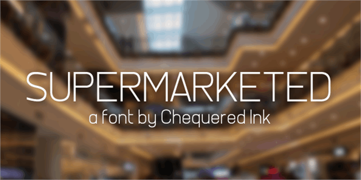 Supermarketed font by Chequered Ink