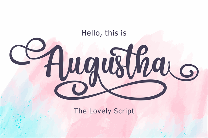 Augustha demo Font poster