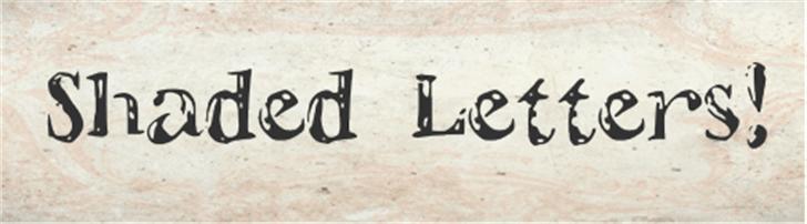 ShadedLetters Font ground handwriting
