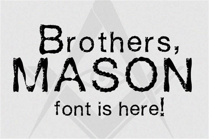 Mason Font design cartoon