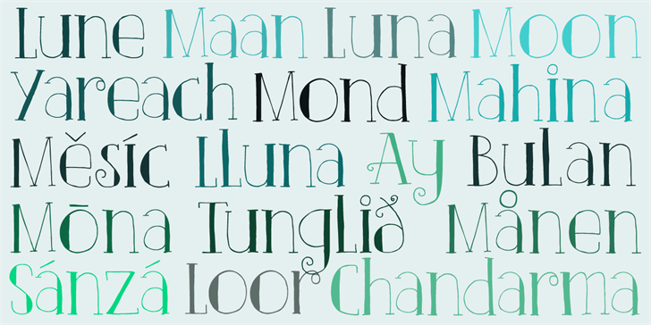 DK Clair De Lune font by David Kerkhoff