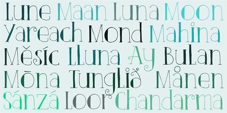 DK Clair De Lune Font text book