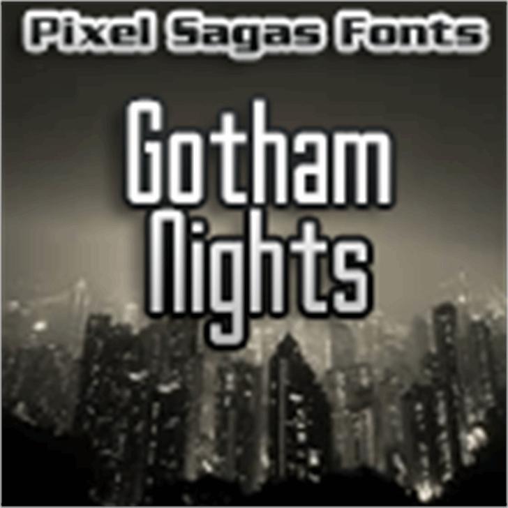 Gotham Nights font by Pixel Sagas