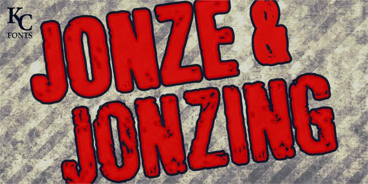 Jonze & Jonzing font by KC Fonts