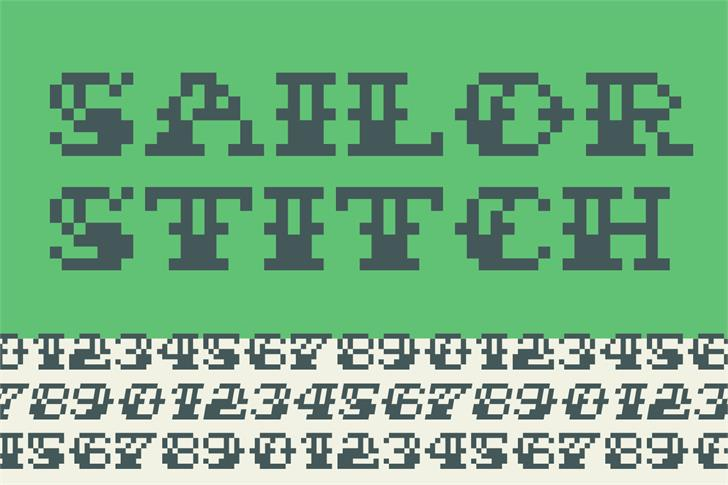 Sailor Stitch Font screenshot font