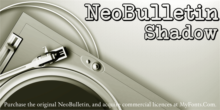 NeoBulletin Limited Shadow Font appliance design
