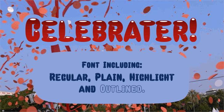 Celebrater PERSONAL USE Font poster screenshot