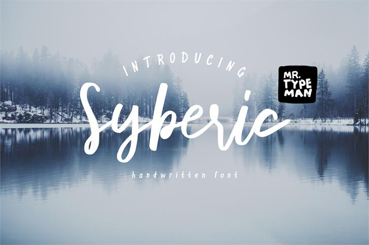 Syberic Font typography design