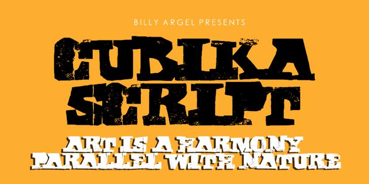 CUBIKA SCRIPT Personal Use Font poster design