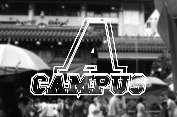 Campus A Font screenshot