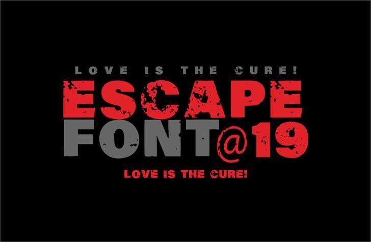 Vtks Escape font by VTKS DESIGN