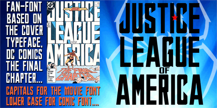 JUSTICE LEAGUE font by SpideRaYsfoNtS
