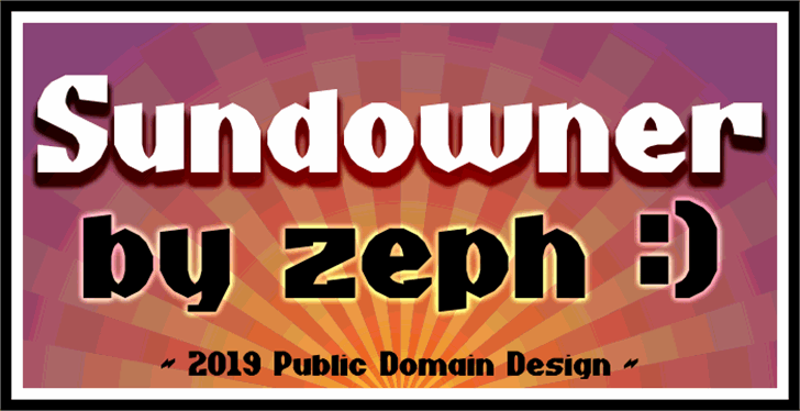 Sundowner Font poster