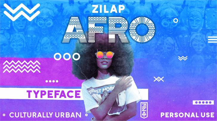Zilap Afro Font poster screenshot