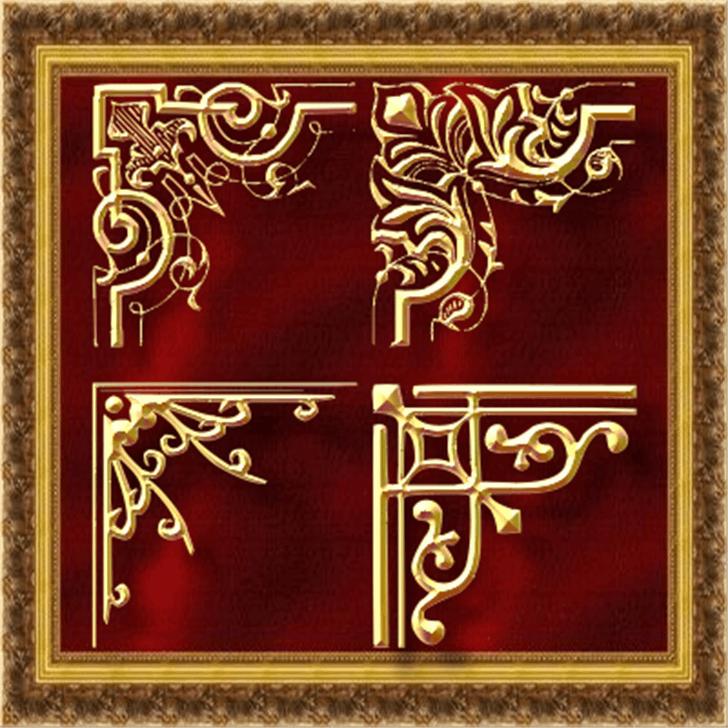 Vintage Decorative Corners 24 Font text