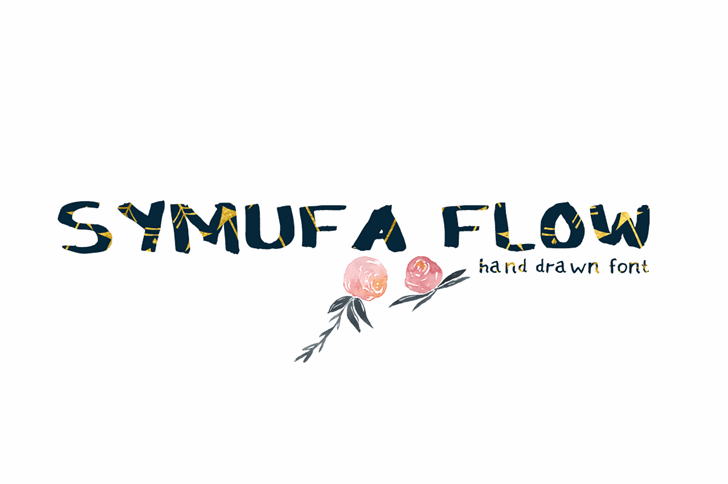 Symufa_Bold_Flow Font design cartoon