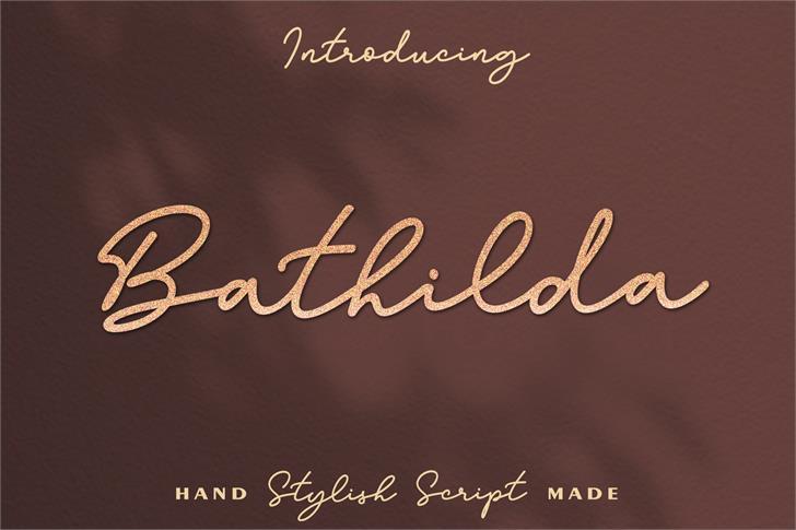 Bathilda Font handwriting