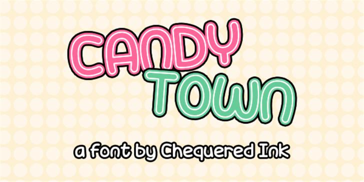 Candy Town Font design cartoon